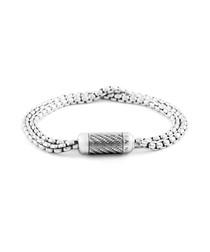 Silver braided bracelet