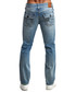 Ricky mid-blue cotton distress jeans Sale - true religion Sale