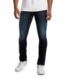 Geno dark-wash cotton slim jeans