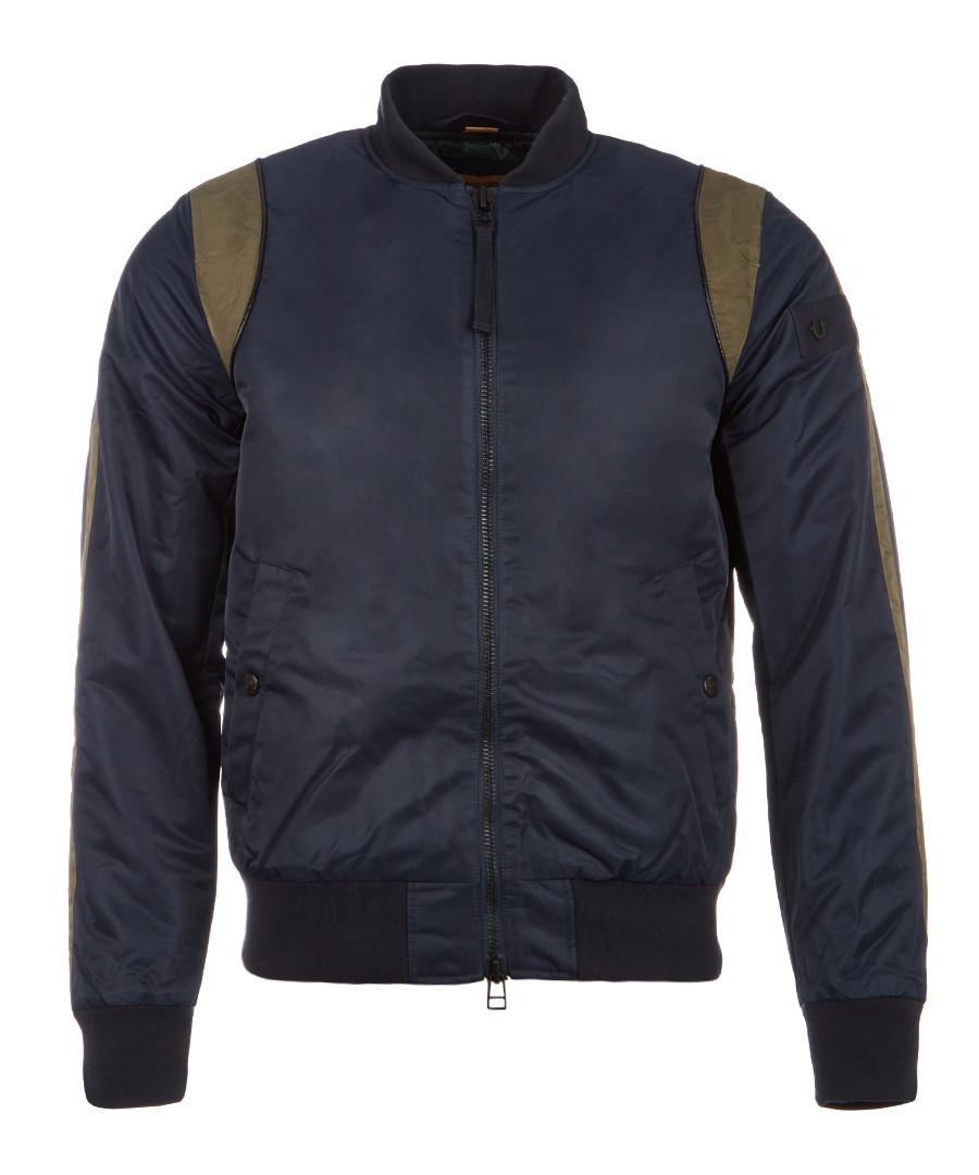Dark blue nylon bomber jacket Sale - true religion