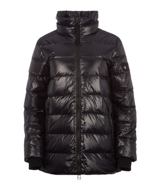 fdcd0f0402e Black nylon padded funnel jacket Sale - true religion Sale