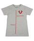Boys' Maze grey marl pure cotton T-shirt Sale - true religion Sale