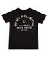 Boys' black pure cotton crest T-shirt Sale - true religion Sale