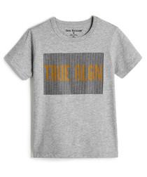 Boys' TR Lines grey pure cotton T-shirt