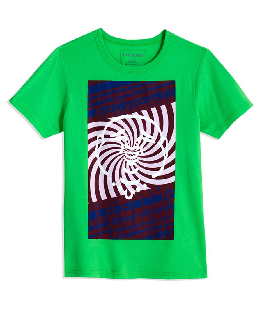 Boys' Psychadellic green cotton T-shirt Sale - true religion
