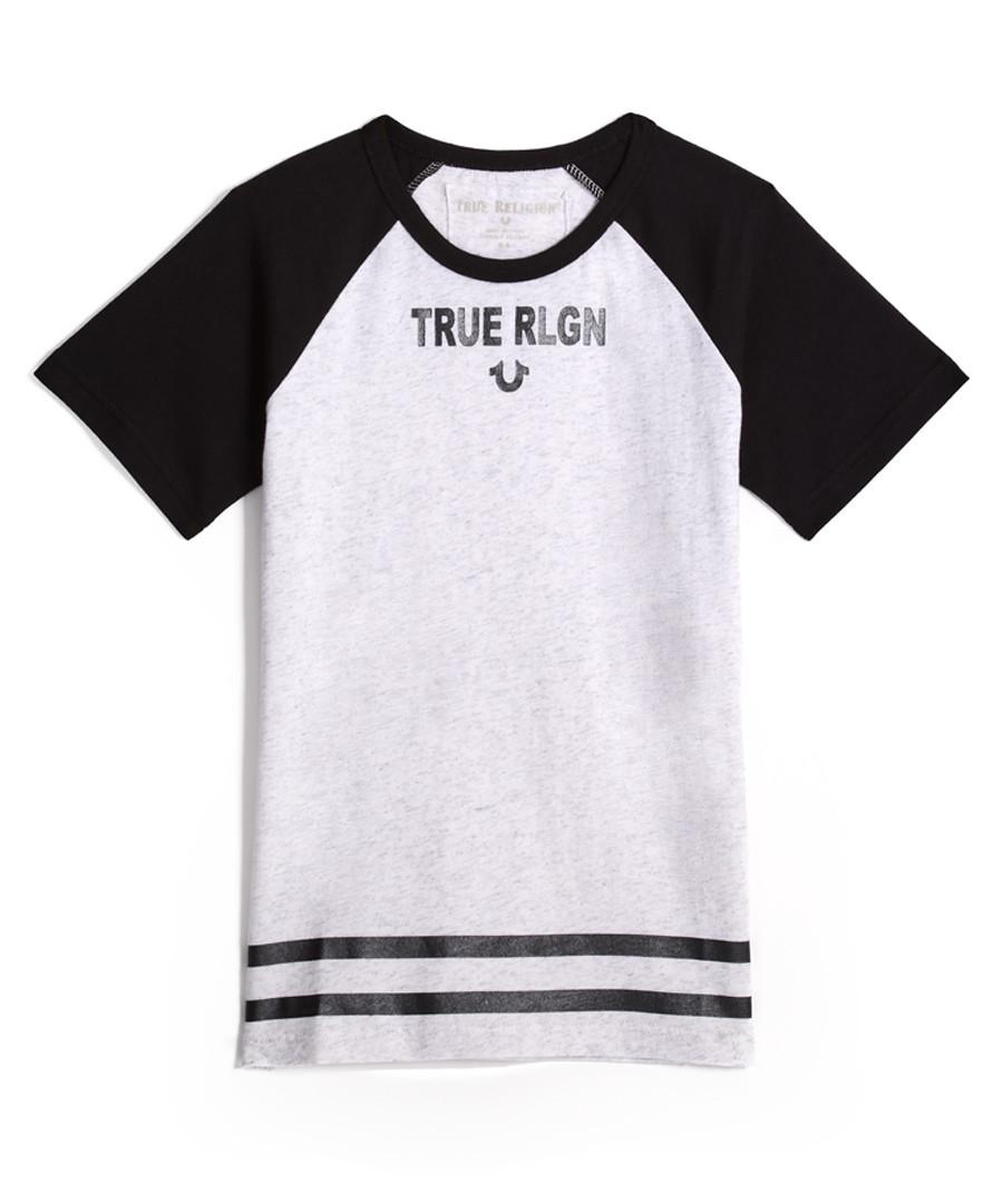 Boys' Branded monochrome cotton T-shirt Sale - true religion