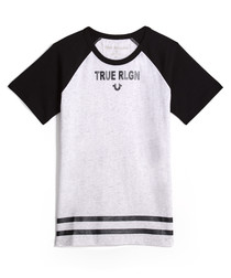 Boys' Branded monochrome cotton T-shirt