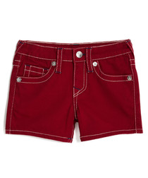 Girls' SE red cotton jeans