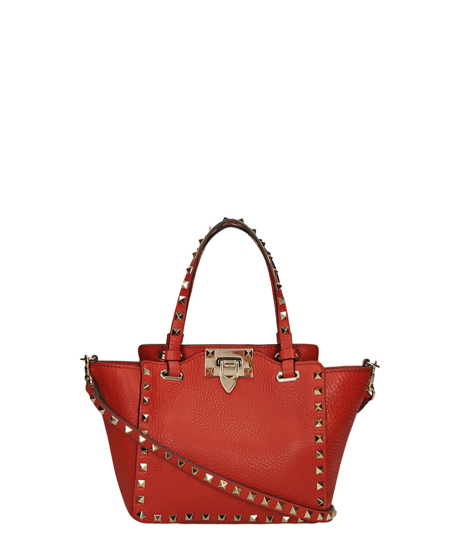 Red leather rockstud trapeze bag Sale - valentino