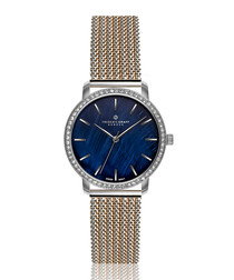 Monte Leone dual-tone steel mesh watch