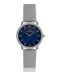 Monte Leone silver-tone steel mesh watch