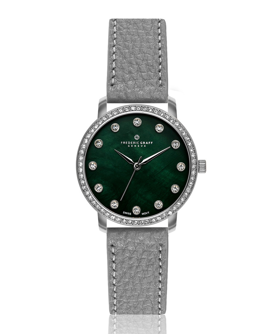 Mont Gele green mother-of-pearl watch Sale - frederic graff