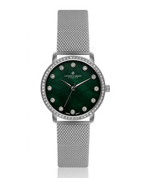 Mont Gele green mother-of-pearl watch
