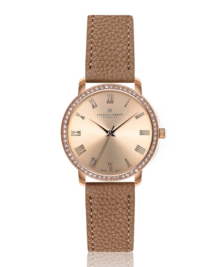 Ruinette cognac leather watch Sale - frederic graff