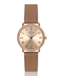 Ruinette cognac leather watch