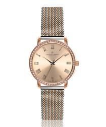 Ruinette dual-tone steel mesh watch