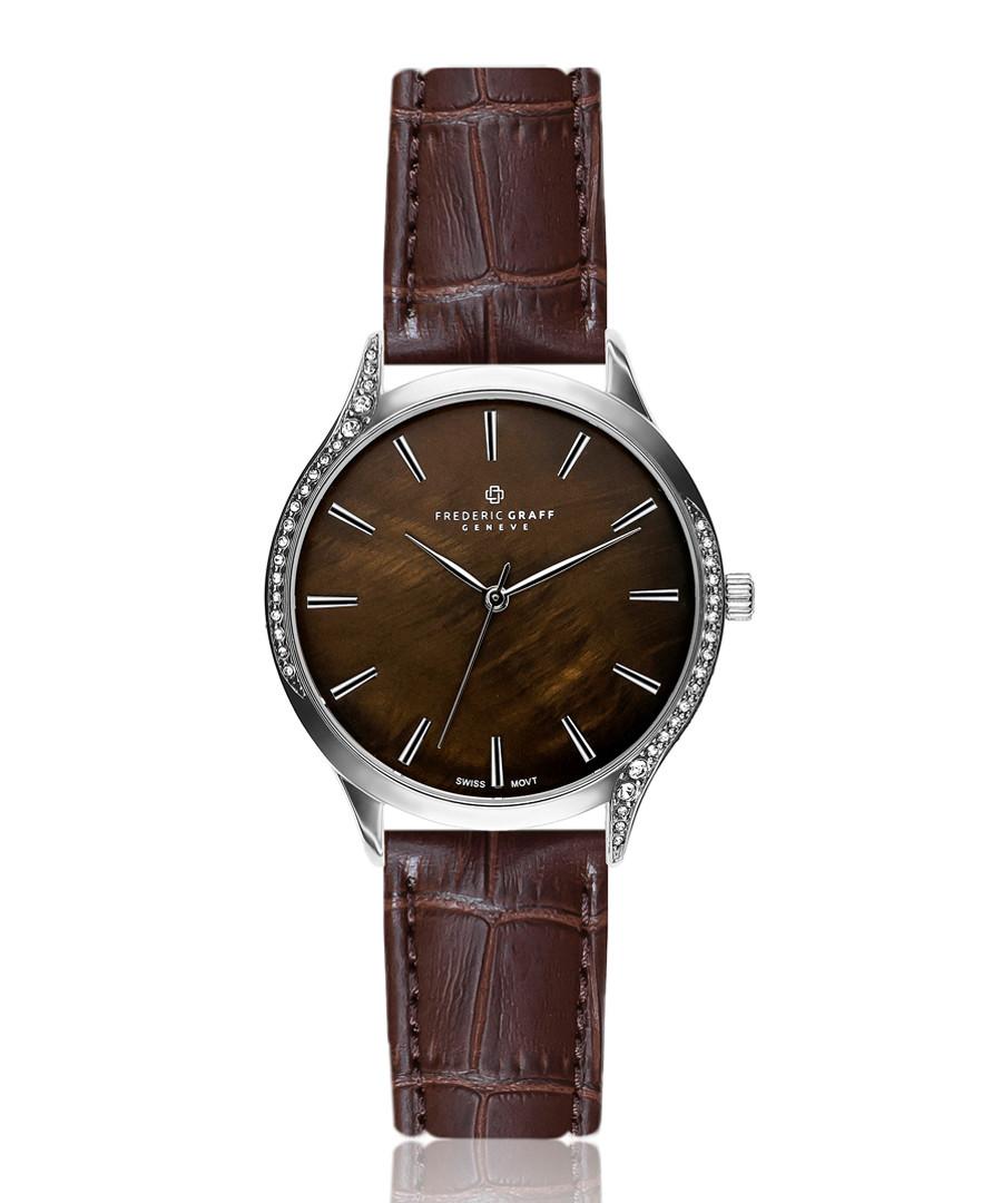 Basodino chocolate mother-of-pearl watch Sale - frederic graff