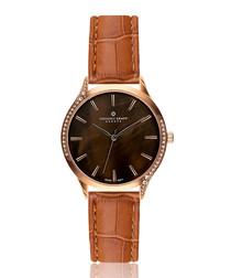 Basodino chocolate mother-of-pearl watch