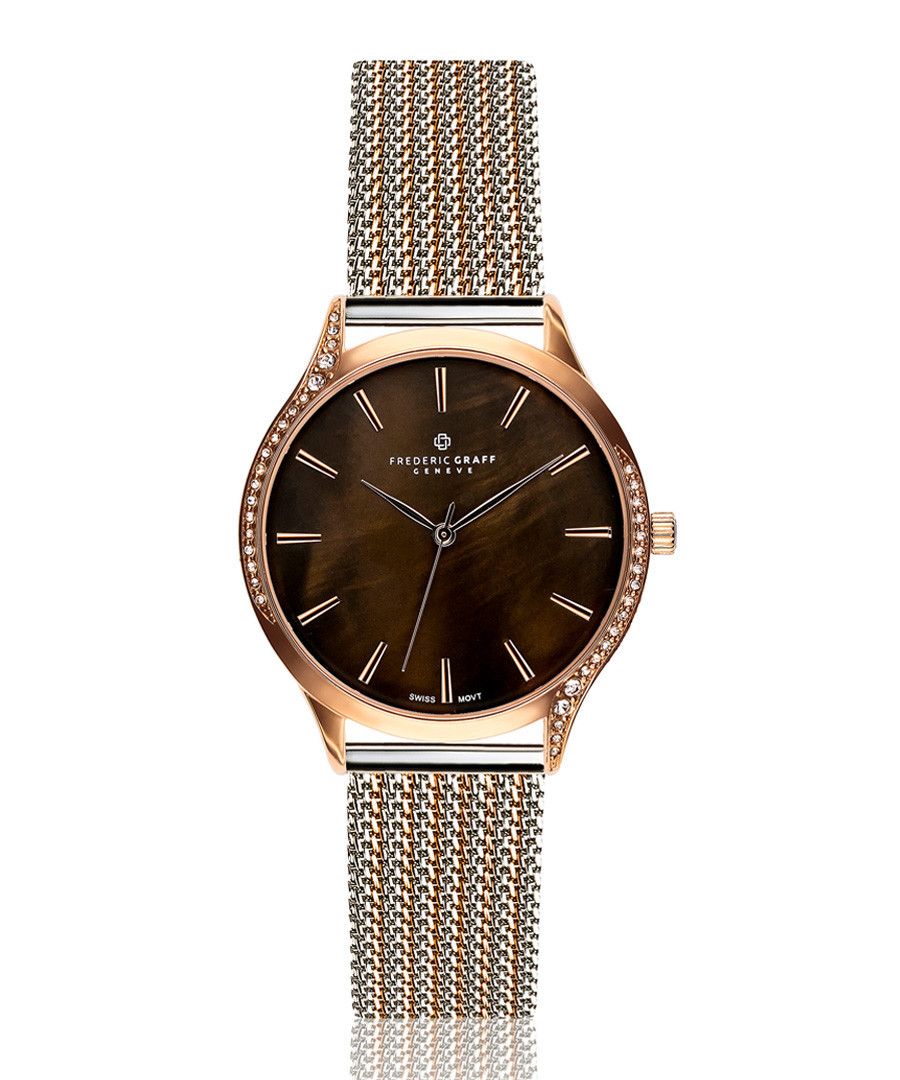 Basodino chocolate mother-of-pearl watch Sale - frederic graff