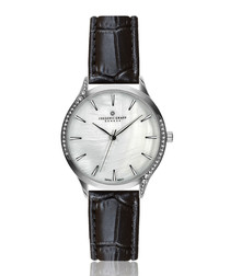 Clariden white mother-of-pearl watch