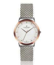 Matterhorn dual-tone steel mesh watch