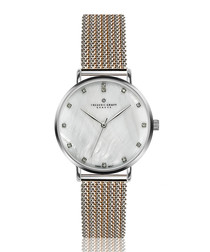 La Singla dual-tone steel mesh watch