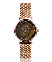 Mont Brule rose-gold tone quartz watch