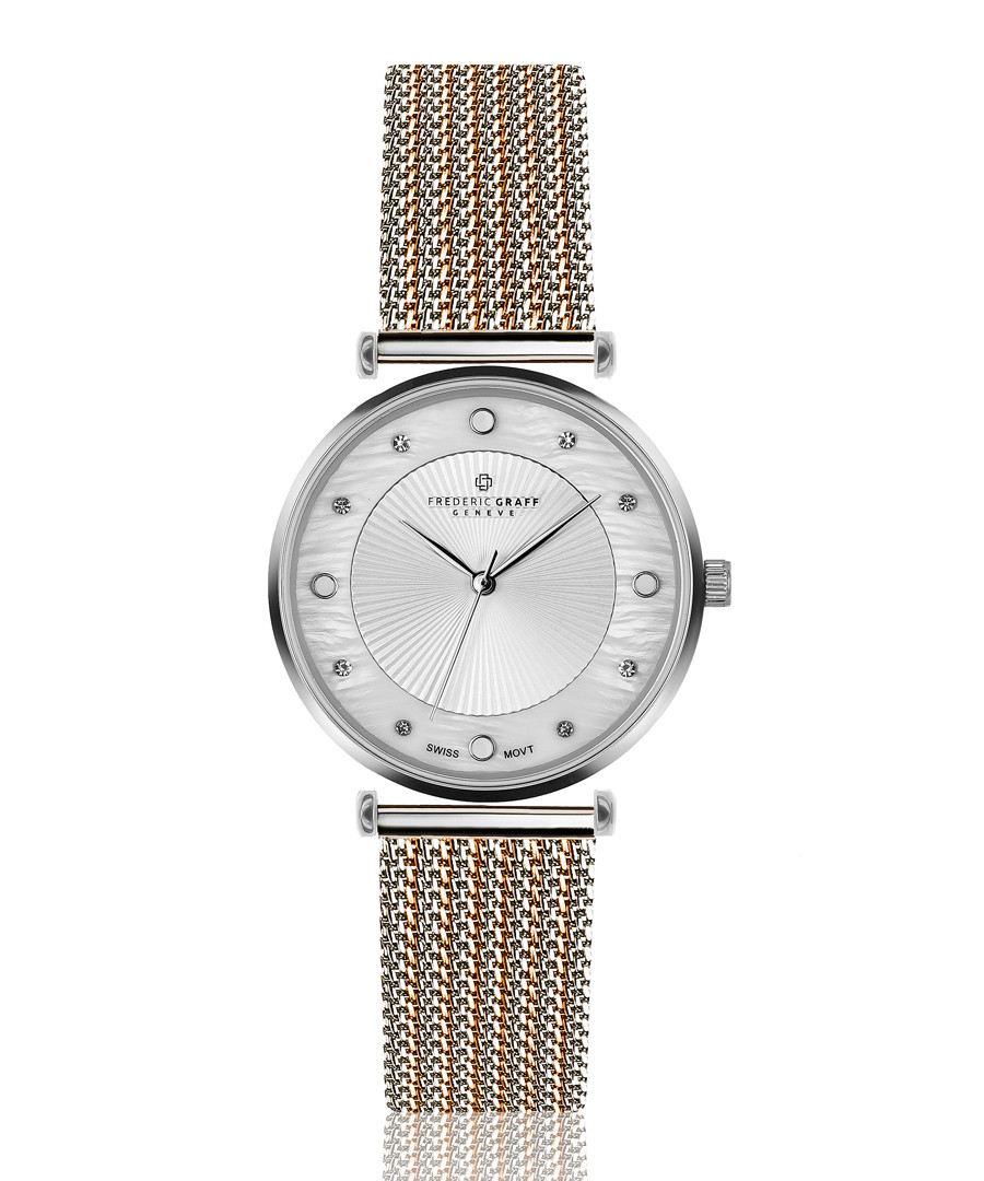 Jungfrau dual-tone steel mesh watch Sale - frederic graff