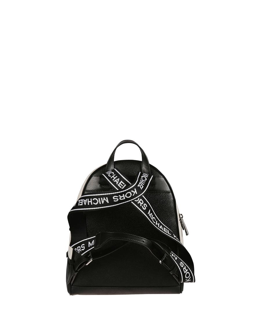 027e11d7430f ... Rhea Medium black Logo Tape Backpack Sale - Michael Kors ...