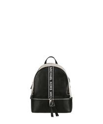 Rhea Medium black Logo Tape Backpack