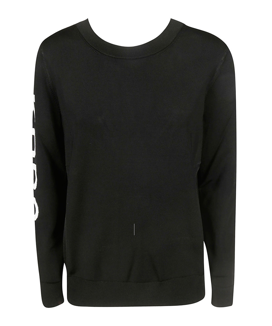 Black logo crew jumper Sale - michael kors