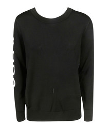 Black logo crew jumper
