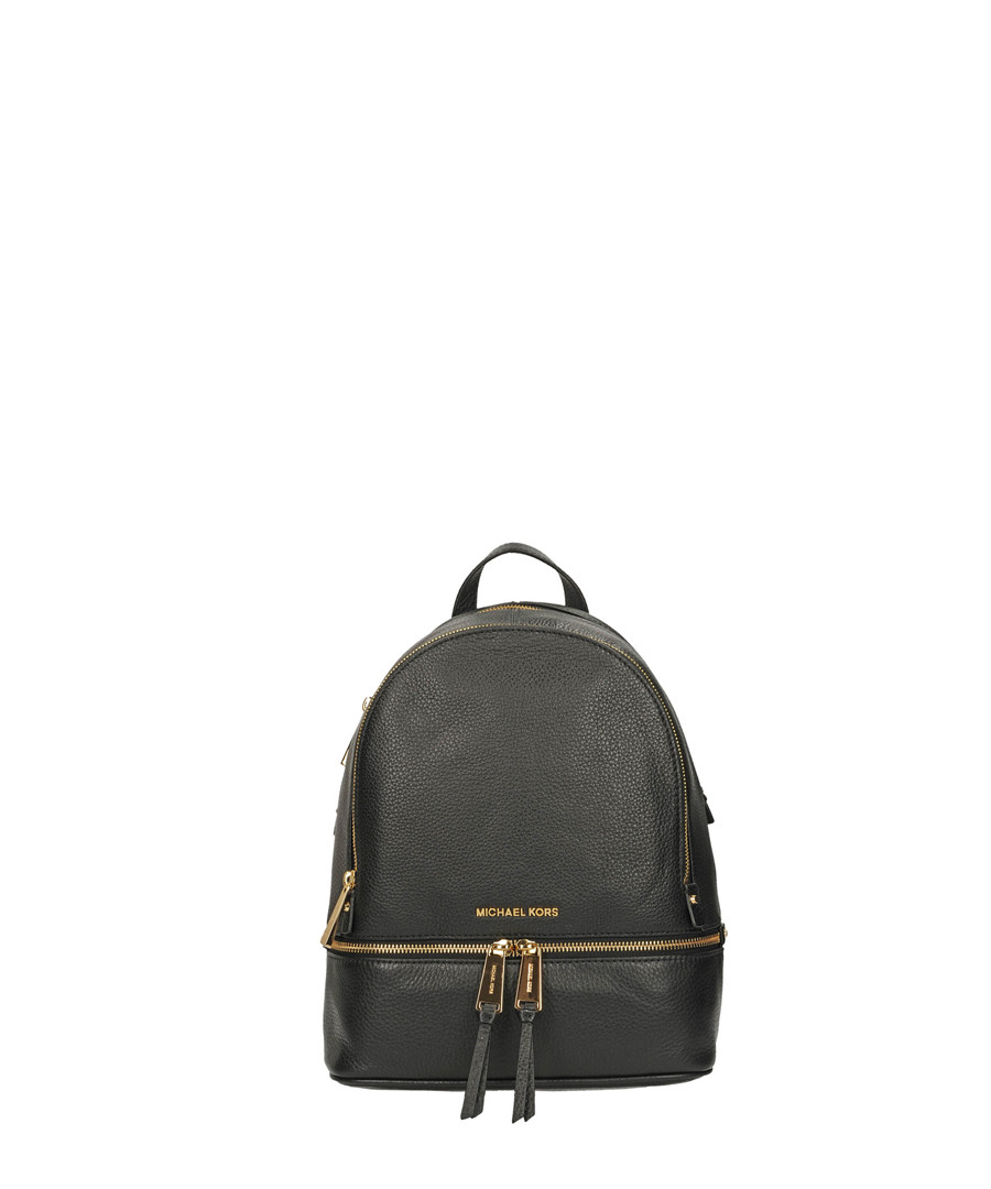 Rhea black leather backpack Sale - michael kors