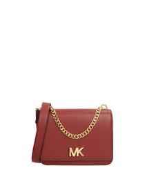 Mott red leather crossbody bag