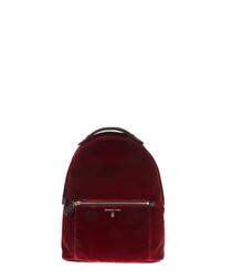 Kelsey maroon nylon backpack