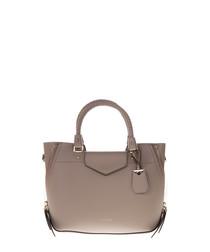Taupe leather grab bag
