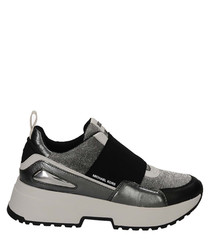 Cosmo greyscale elastic panel sneakers