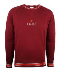 Burgundy pure cotton logo jumper