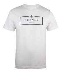Vintage white pure cotton logo T-shirt