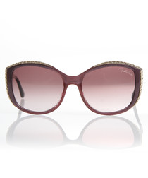 Purple & gold-tone gradient sunglasses