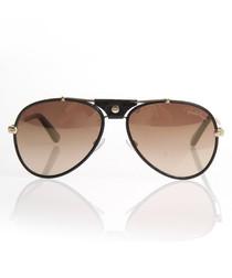 Black & brown aviator sunglasses