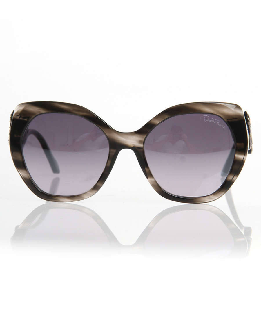 Grey marbled oversized sunglasses Sale - Roberto Cavalli