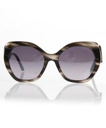 Grey marbled oversized sunglasses