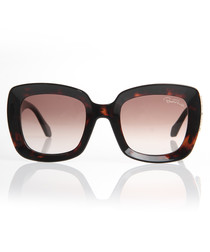 Havana thick-rim sunglasses