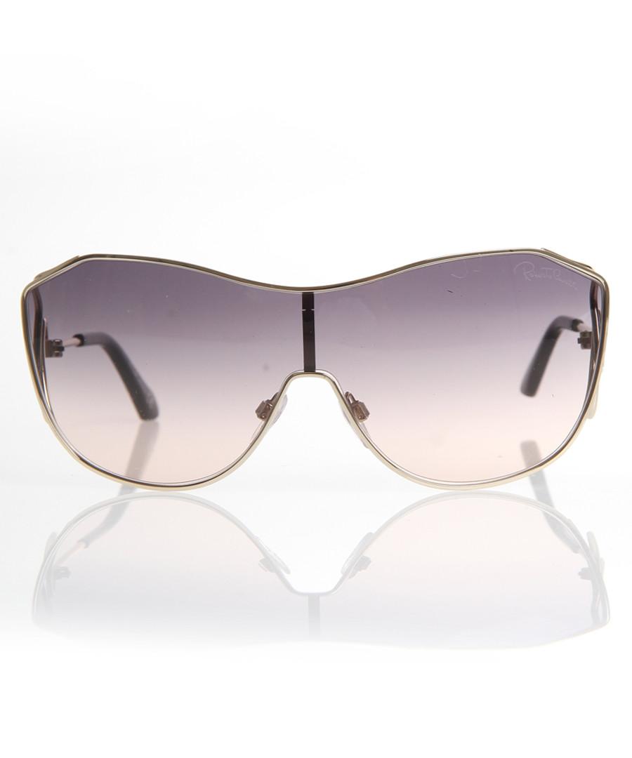 Gold-tone & violet oversized sunglasses Sale - Roberto Cavalli