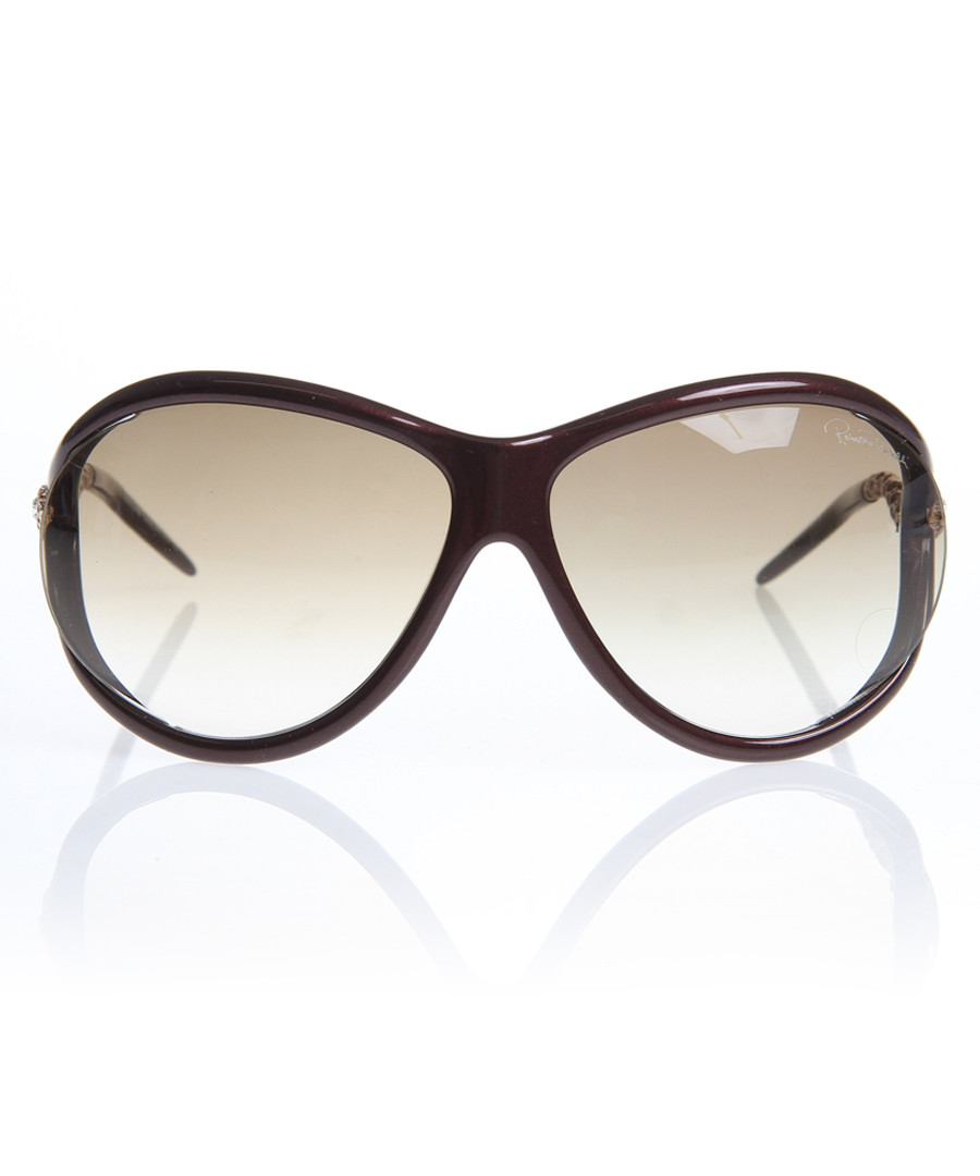 Burgundy & gold-tone sunglasses Sale - Roberto Cavalli