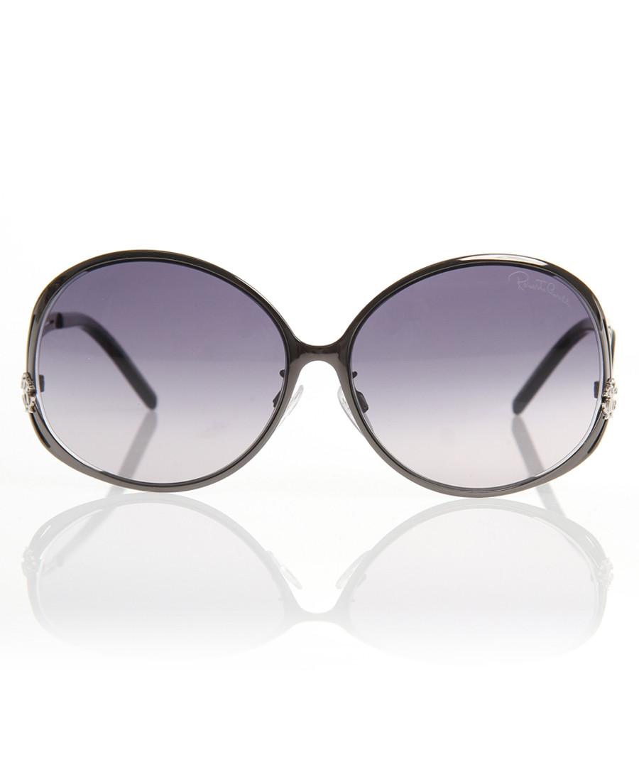 Gunmetal & grey oversized sunglasses Sale - Roberto Cavalli
