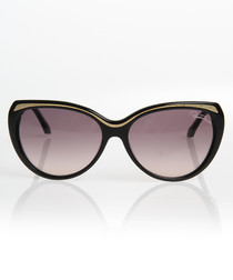 Black & gold-tone frame sunglasses