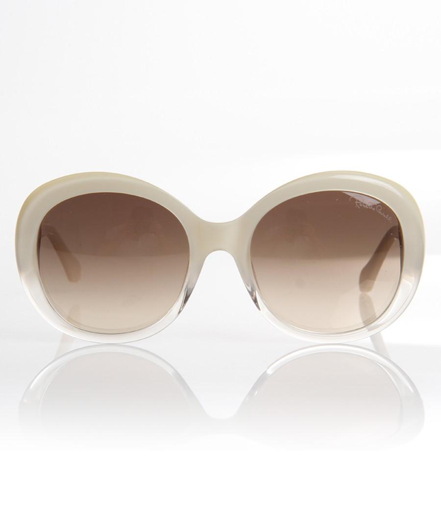 Brown & ivory thick-rim sunglasses Sale - roberto cavalli