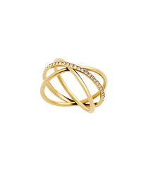 Gold-tone steel wrap ring